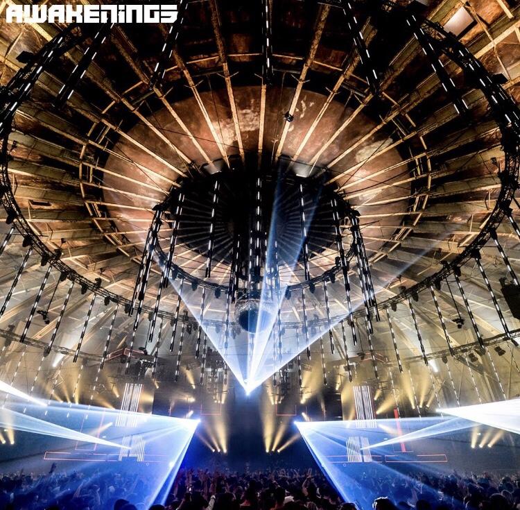Cameratoezicht tijdens Awakenings new year event in de Gashouder Westergasfabriek Amsterdam!