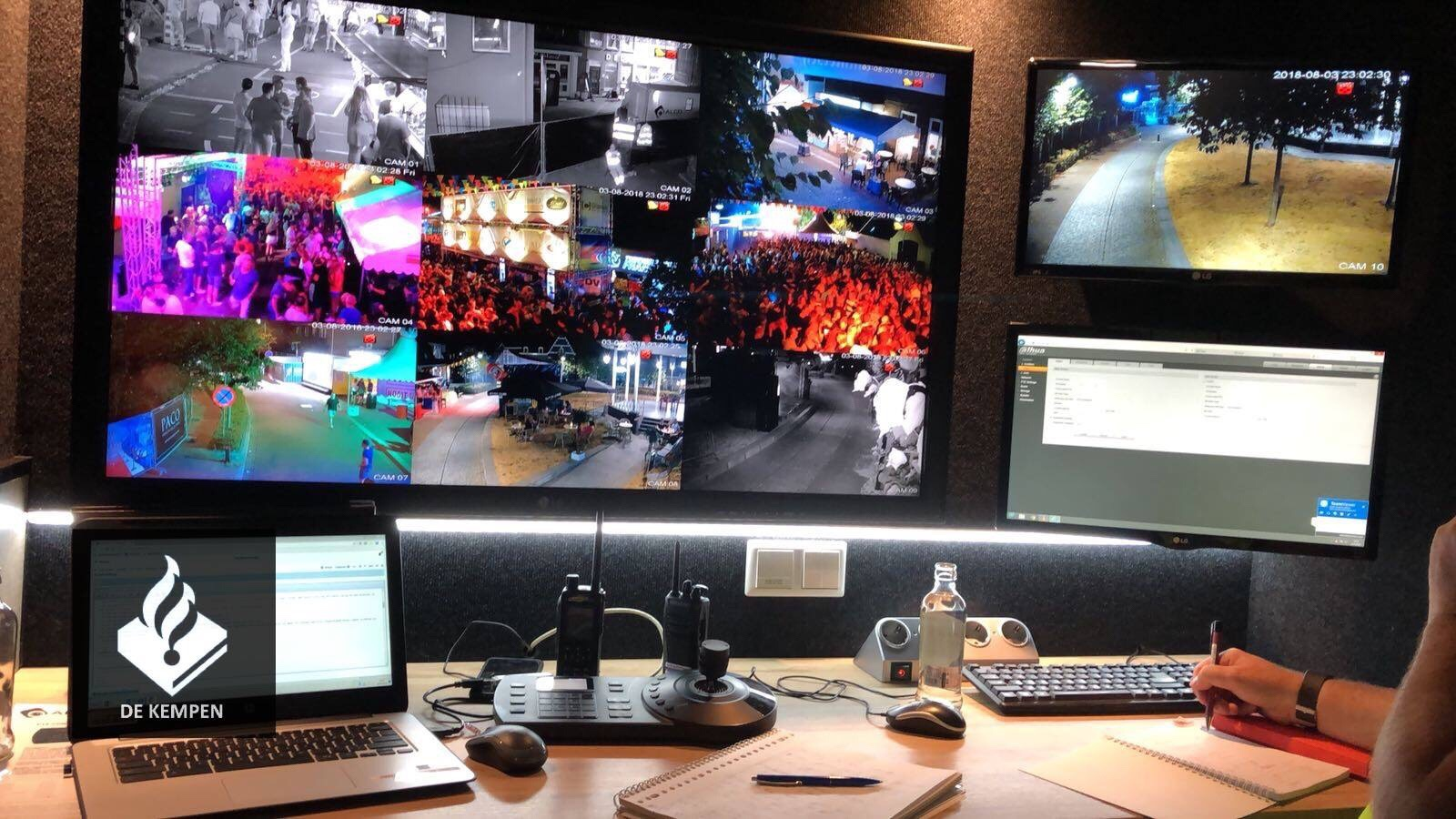 Cameratoezicht tijdens kermis Zeelst! Geleverd aan gemeente Veldhoven. De 10 (draadloze) full HD PTZ camera's worden door politie en gemeente live uitgekeken in onze mobiele commando unit!
