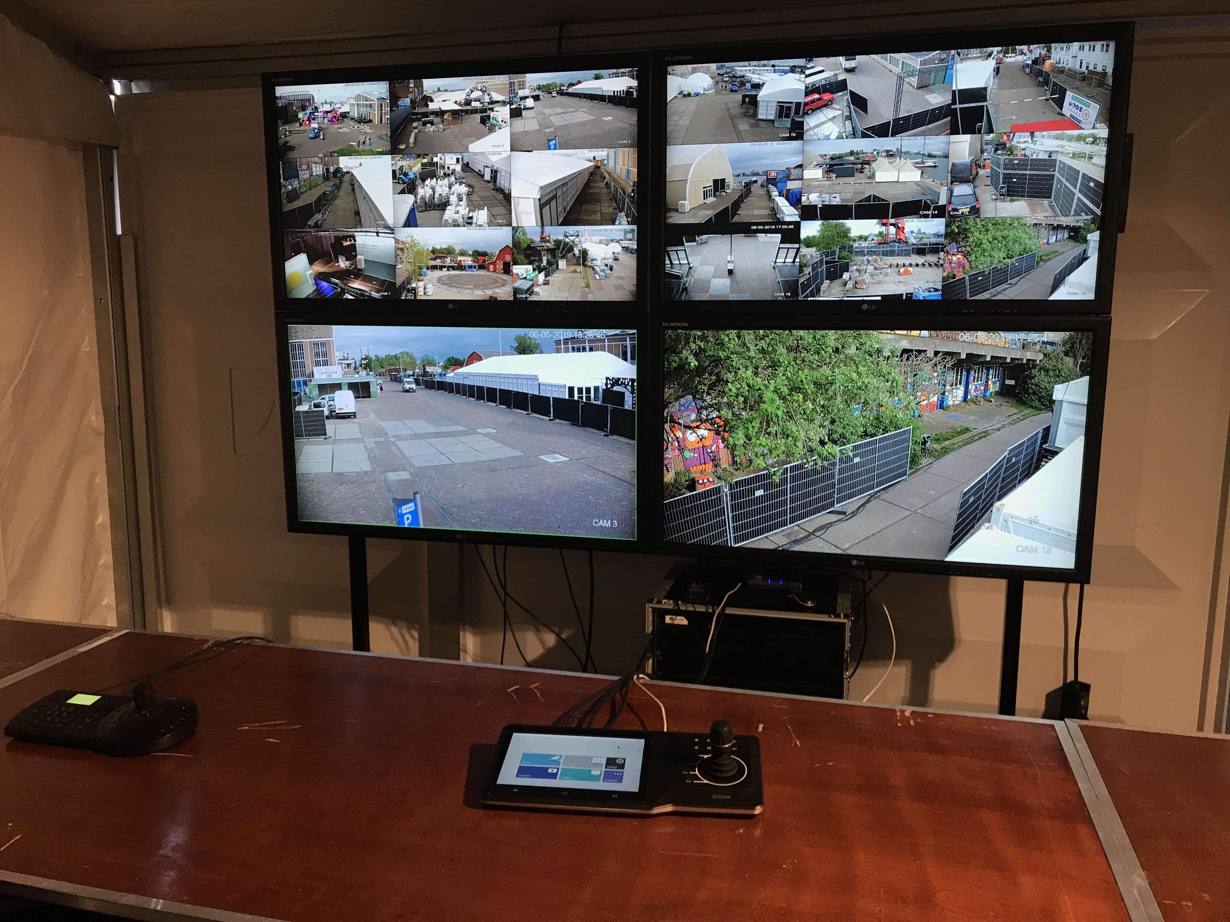 Cameratoezicht geleverd tijdens The Next Web Conference Amsterdam, gehele terrein voorzien van (draadloze) full HD speeddome camera's! CP ingericht met videowall en touchscreen PTZ controler! #TNW #beveiliging #cameratoezicht #NDSM-werf #Amsterdam #camera's #security